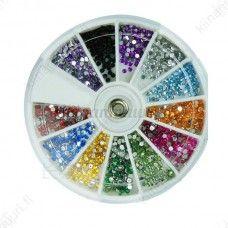 Tekojalokivi kynsikoristeet, 12 väriä