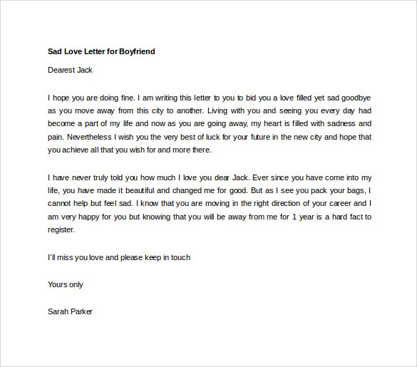 Letter Of Apology Template – Apology Love Letter Example