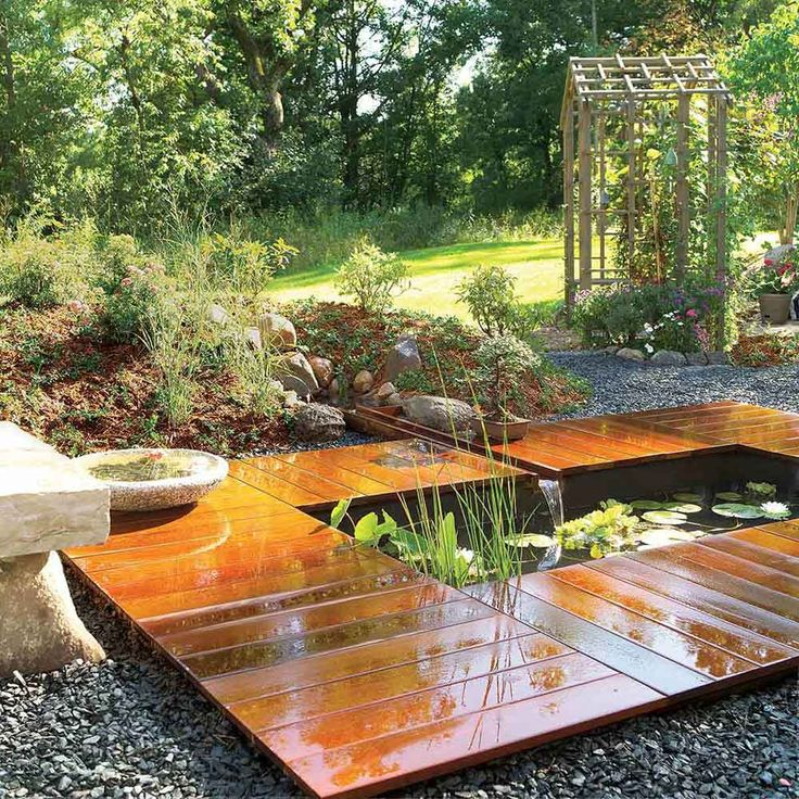 A low maintenance water feature makes any yard