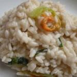 risotto con fiori di zucchine mantecato allo zola by simo