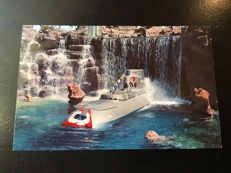 Vintage Disneyland Tomorrowland Postcard - Submarine Falls by VintageDisneyana on Etsy