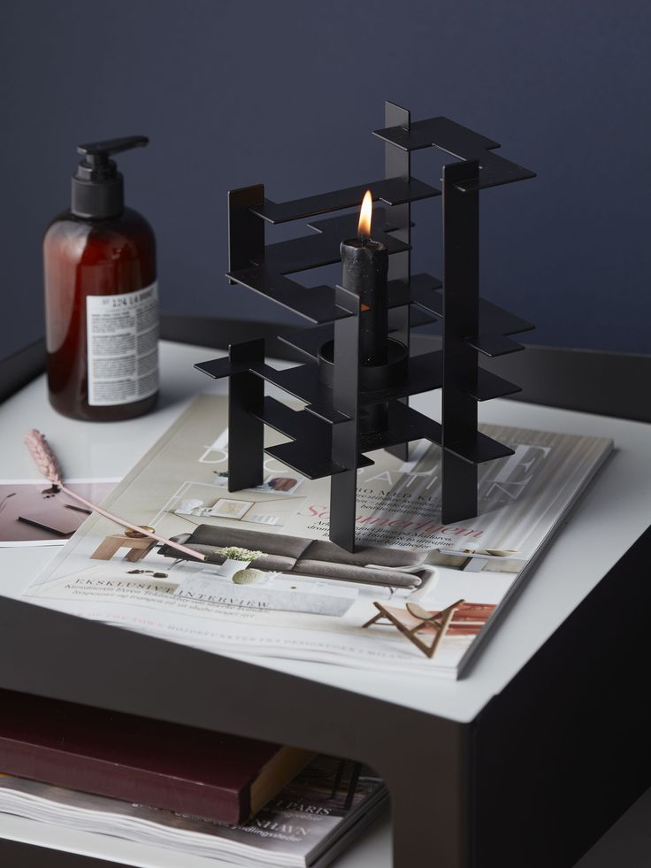 Design inspiration Lysverk black candle holder by Gejst
