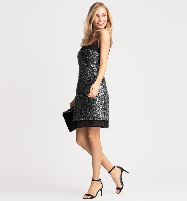 Sklep internetowy C&A | Cekinowa sukienka, kolor:  srebrny | Dobra jakość w niskiej cenie