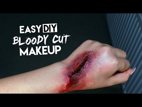 EASY BLOODY CUT/WOUND (USING GLUE & TISSUE) | SAROCHA B | SFX - YouTube
