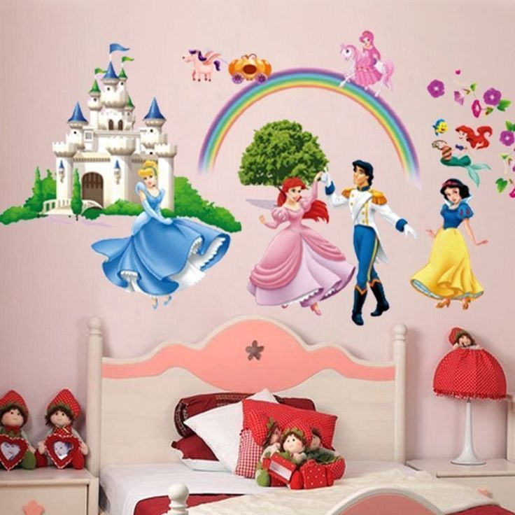 Disney Princess Castle Rainbow Wall Decal Part 87