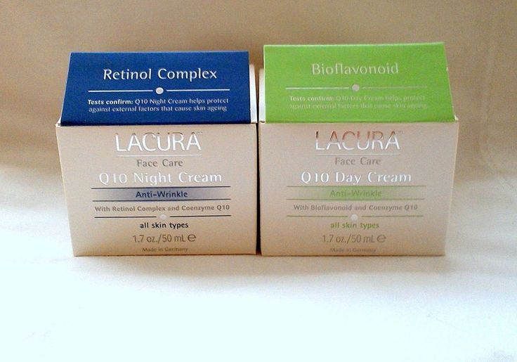 Lacura Anti-Wrinkle Day+Night Face Cream with Bioflavonoid Q10 and Retinol Compl #Lacura