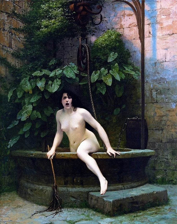 Gérôme, Jean, (1824-1904), Truth Rising from Her Well to Shame Mankind, 1896
