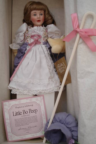Franklin Mint Heirloom Storybook Little Bo Peep Porcelain