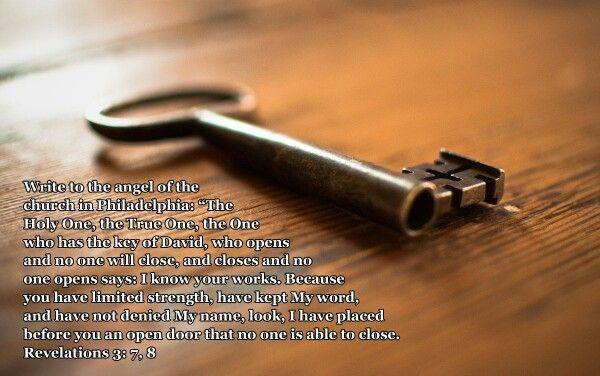 Revelations 3:7,8