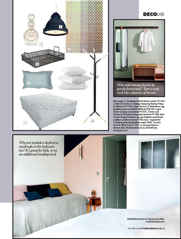 Boudoir Basics | Keep it Fresh on page 53 of the latest #AfricaIssue | #DecoLab #Bedroom
