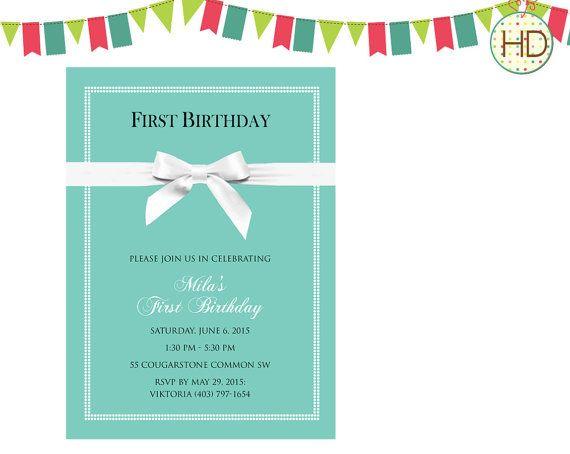 9 best Tiffany Blue Invitations images – Tiffany Blue Birthday Invitations