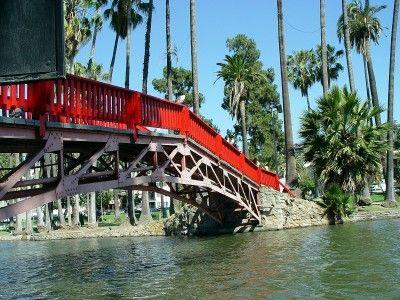 Echo Park Lake Bridge  Echo Park, LA, CA