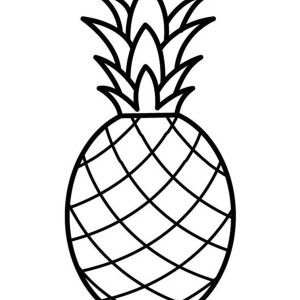 Pineapple A Pale Pernambuco Pineapple Coloring Page A Pale