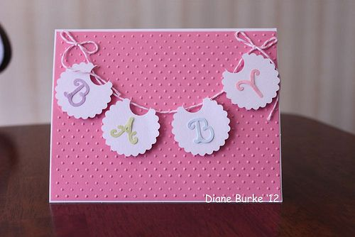 baby bib card | For my friends at the guy, this was made to … | Flickr