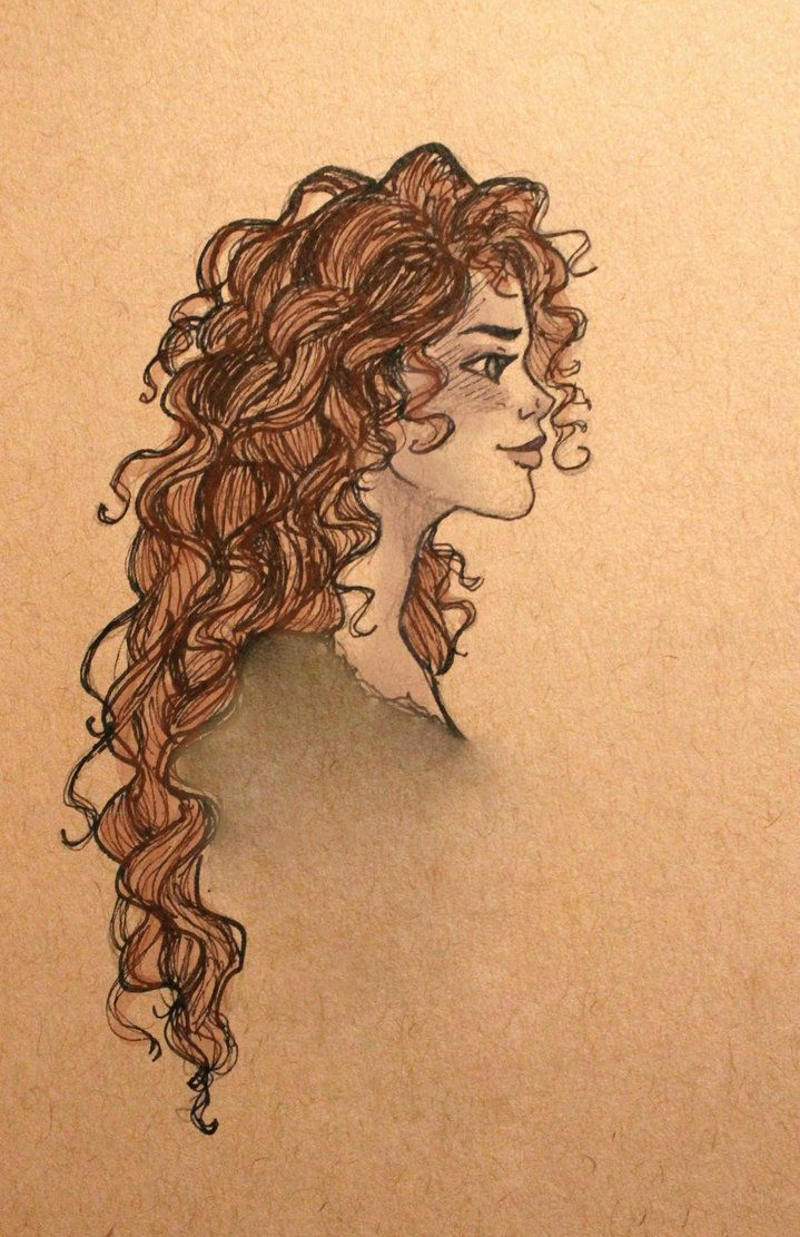 Uncategorized Drawing Curly Hair merida by jennapaddey on deviantart character sketch drawing illustration inspiration sketches and illustrations pinterest sketches