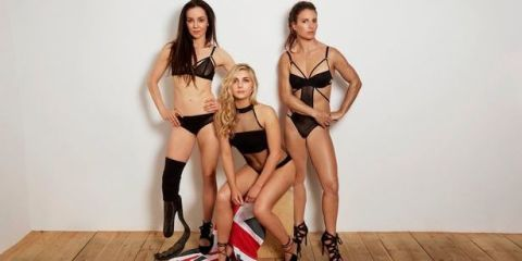 Team GB athletes Stef Reid, Amber Hill and Bryony Shaw pose in lingerie as part of empowering #women campaign to encourage more to follow their sporting dreams.   #Sport #Fitness #Athletics #Olympics #Rio2016 #Equality #Inspire #Empower #Confidence