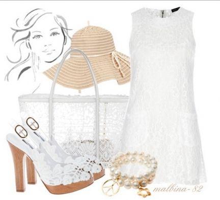 Белое платье из плотного кружева - это очень романтично и достаточно целомудренно. Идеальная спутница такого наряда - плетеная или (опять же) кружевная сумка-корзинка. Широкополая шляпа в этом образе отсылает нас к счастливому времени хиппи.