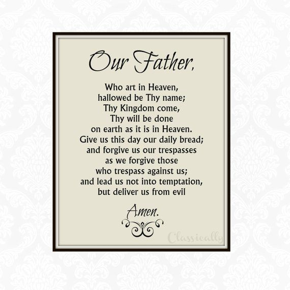 picture regarding Printable Our Father Prayer named The Lords Prayer Printable, Our Dad Prayer Print, Do-it-yourself