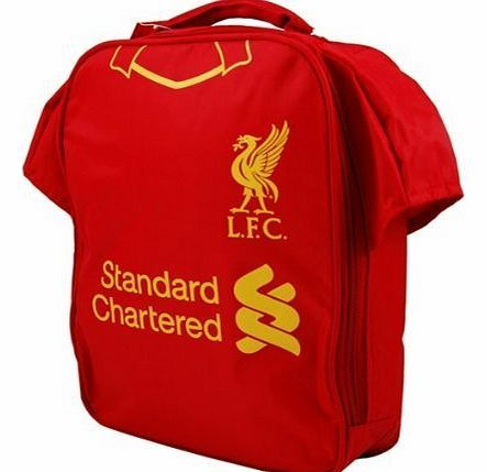 Official Football Merchandise New Official Football Team Kit Lunch Bag (Liverpool FC) Brand New Official Football Team Club Shop Merchandise...Zipped lunch bag in the shape of your favourite teams kit, with inner insulation to keep contents safe and cool (Barcode EAN = 5055639209503) http://www.comparestoreprices.co.uk/football-kit/official-football-merchandise-new-official-football-team-kit-lunch-bag-liverpool-fc-.asp