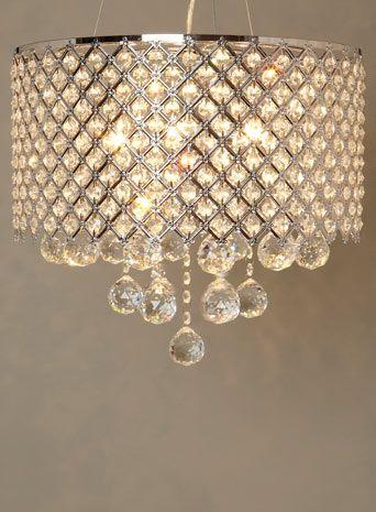 BHS Chrome Petra Pendant - lighting  - For The Home