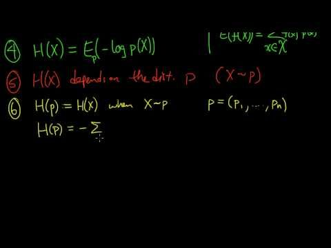 (Info 1.2) Entropy - Definition (continued)