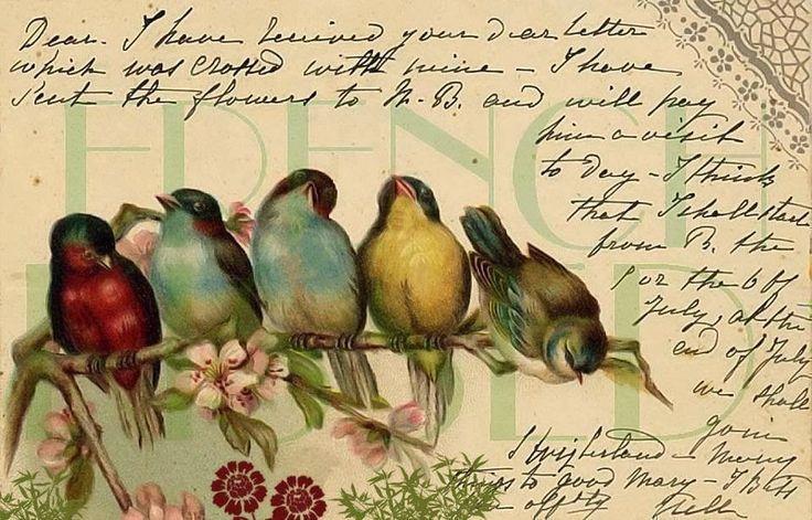 Atölye Sem: Kuşlu vintage tepsi