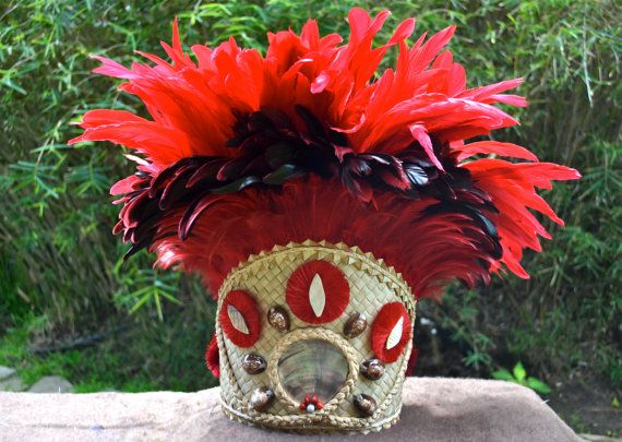 Extra fancy Tahitian tane CHIEF head dress for males by ISLANDMANA, $215.00