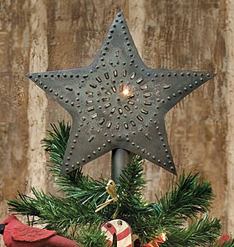 ~ Punched Star Tree Topper ~