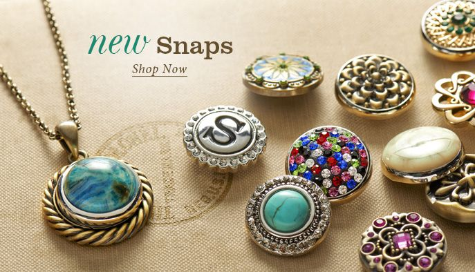 Ginger Snaps Jewelry- interchangeable snaps for necklaces, bracelets, rings, and more!! love these!