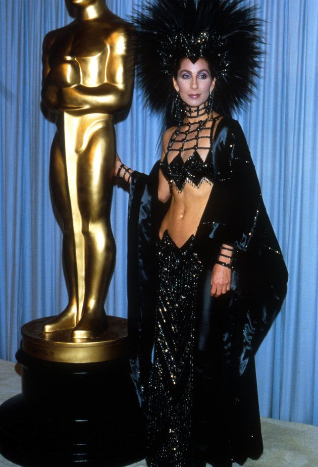 Cher in Bob Mackie at the 1986 Oscars. Still no words.