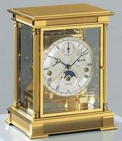 1240-06-05 Classic Gold Plated Solid Brass Mantel Clock by Kieninger
