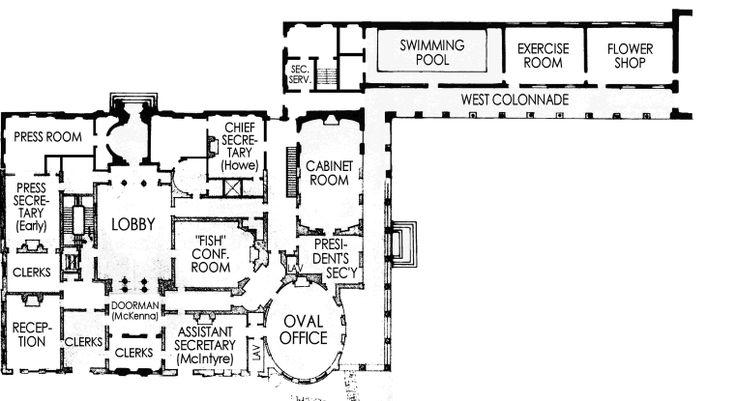West Wing 1945 Floor Plans House Floor Plans
