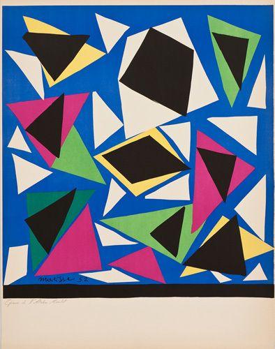 Centenial, Exposition d'Affiches, Papiers Decoupes (before lettering) Poster by Henri Matisse Easyart.com