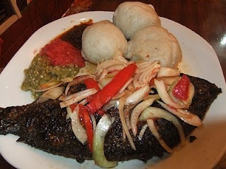 Food Ghana Style - Banku and tilapia