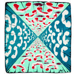 """Salvador Dali 'Number, Please?' textile from Wesley Simpson, c.1947, on view in """"Artist Textiles: Picasso to Warhol"""" at Fashion and Textile Museum, London, 31 January – 17 May 2014."""
