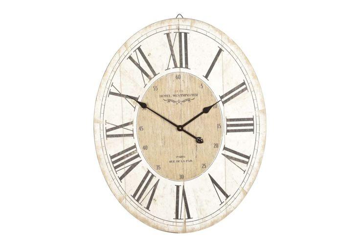 Parisienne Wooden Wall Clock - Clocks - Living Room Storage | Bookcases | Furniture Village