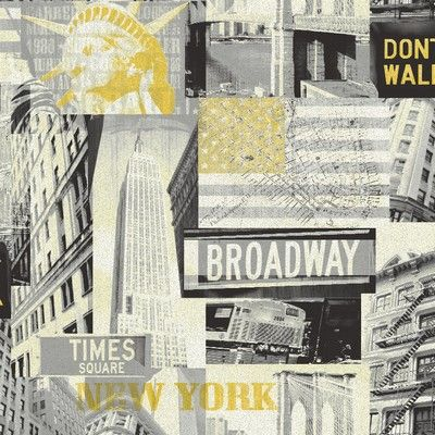This Black and Yellow Broadway Wallpaper from Arthouse is a fashionable, city themed design that will liven up any room in your home. This contemporary statement wallcovering featuring iconic New York landmarks will make an impact whether hung on one focus wall or all four and even comes in the colour of the famous NYC taxi cabs! £9.99 per 10m roll.