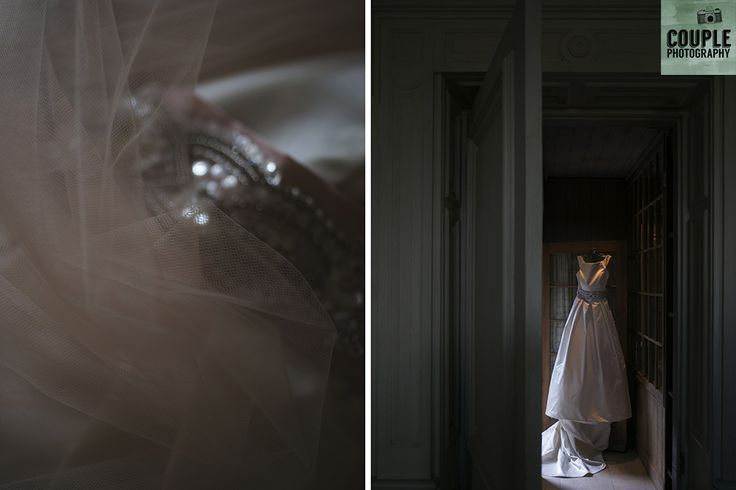 The fabulous wedding dress with dusty pink veil. Weddings at Cliff At Lyons by Couple Photography.
