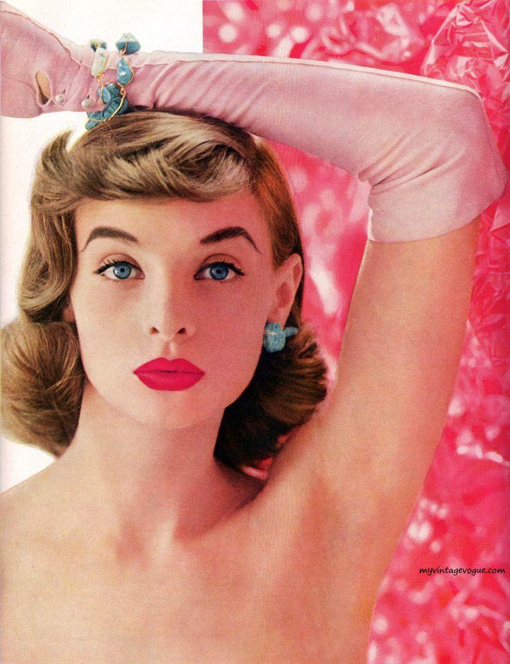 Pink overdose. 1956 lipstick advertisement.