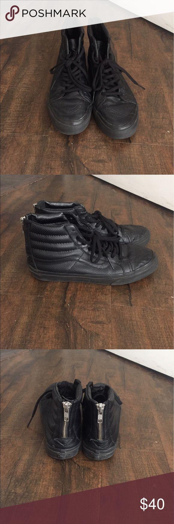 Selling this Slim Ski-8 All Black Leather Vans on Poshmark! My username is: cortezjenn36. #shopmycloset #poshmark #fashion #shopping #style #forsale #Vans #Shoes