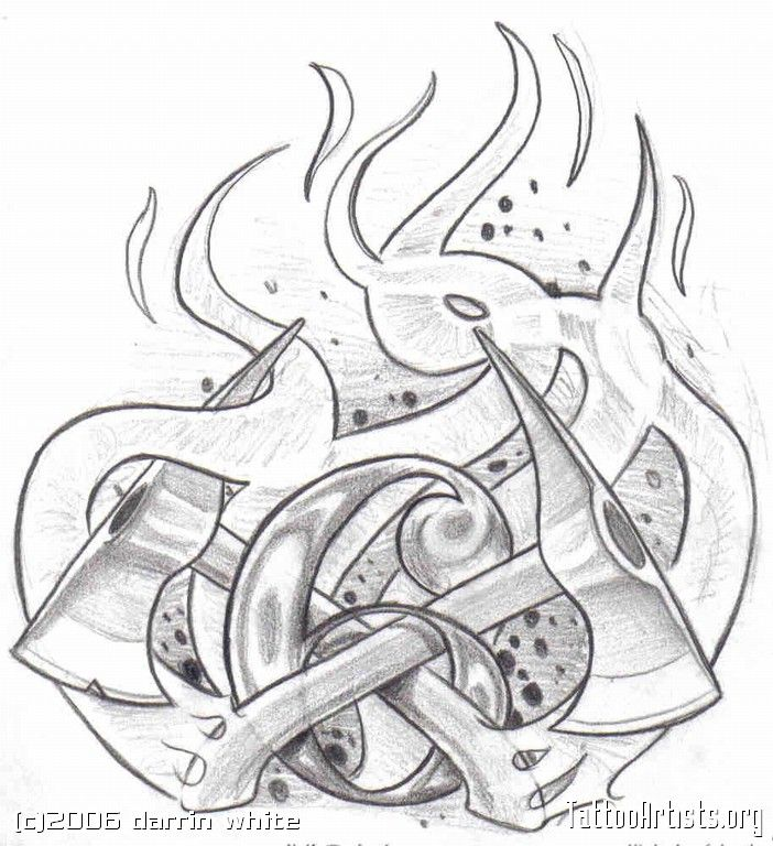 firefighter tattoo designs clip art | Fireman Tattoos Firefighter Shield Badge - santattoos.com