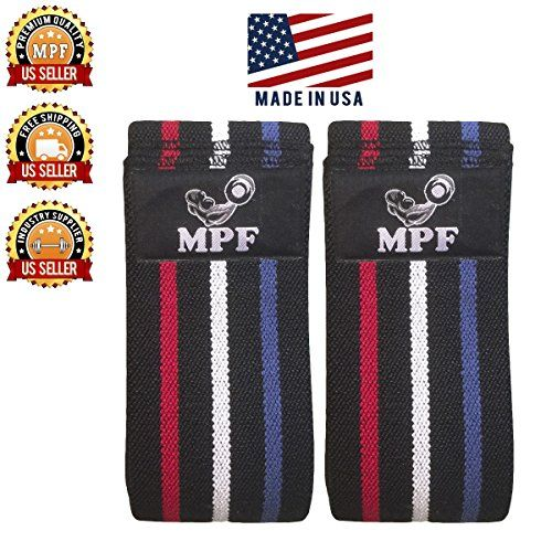 Powerlifting Knee Compression Sleeve Weightlifting Wraps Comfortable and Durable Apt for Squats Bodybuilding Powerlifting Cross Fit and Fitness Exercises  78 Long  MADE IN USA *** Find out more about the great product at the image link.