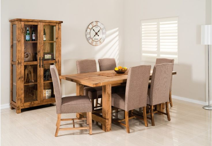 Industrial 7 Piece Dining Suite | Super Amart