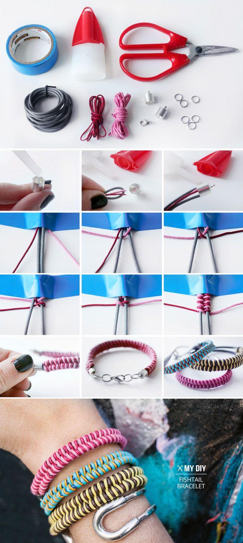 Fishtail Braid Bracelet - 13 Wonderful DIY Jewelry Crafts