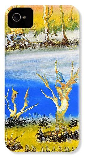 Raw River IPhone 4 / 4s Case Printed with Fine Art spray painting image Raw River by Nandor Molnar (When you visit the Shop, change the orientation, background color and image size as you wish)