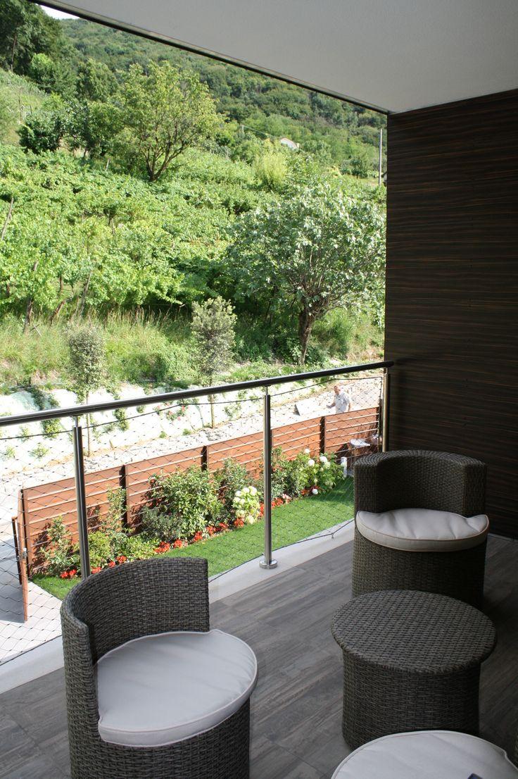 Balcone villa a Paratico - arredo giardino