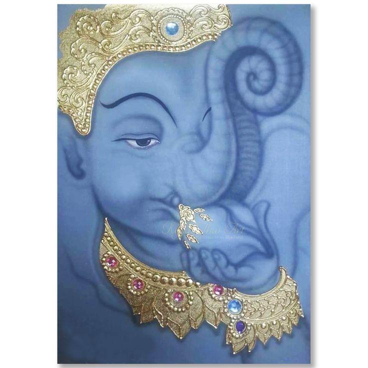 Ganesha Art Painting On Canvas