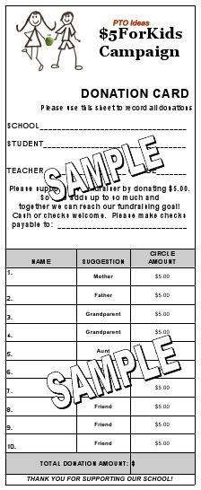 PTO Ideas - Simple, Upfront fundraiser