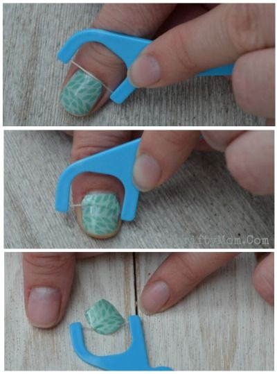 Floss method How to easily remove jamberry nail wraps without causing damage to your nails, Nailart, Nail art wraps tips and tricks for nail Design