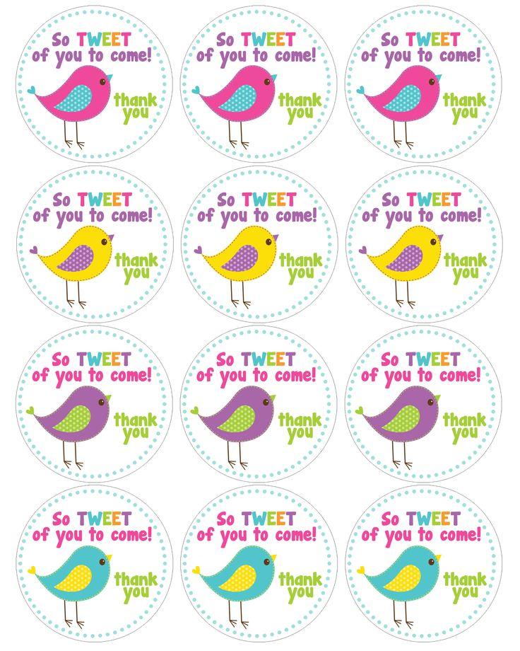 bird birthday cupcake toppers